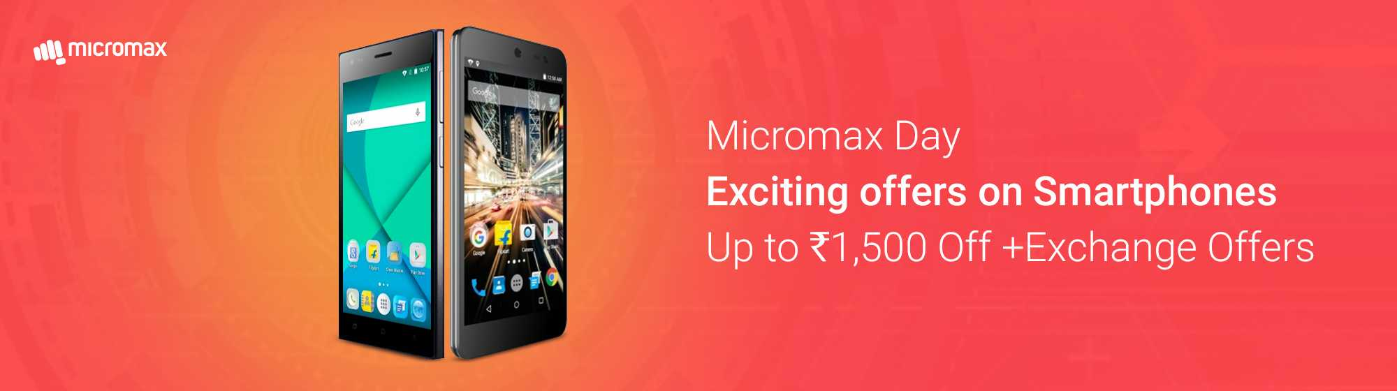 Get Upto Rs.1500 Off on Micromax Mobiles from flipkart