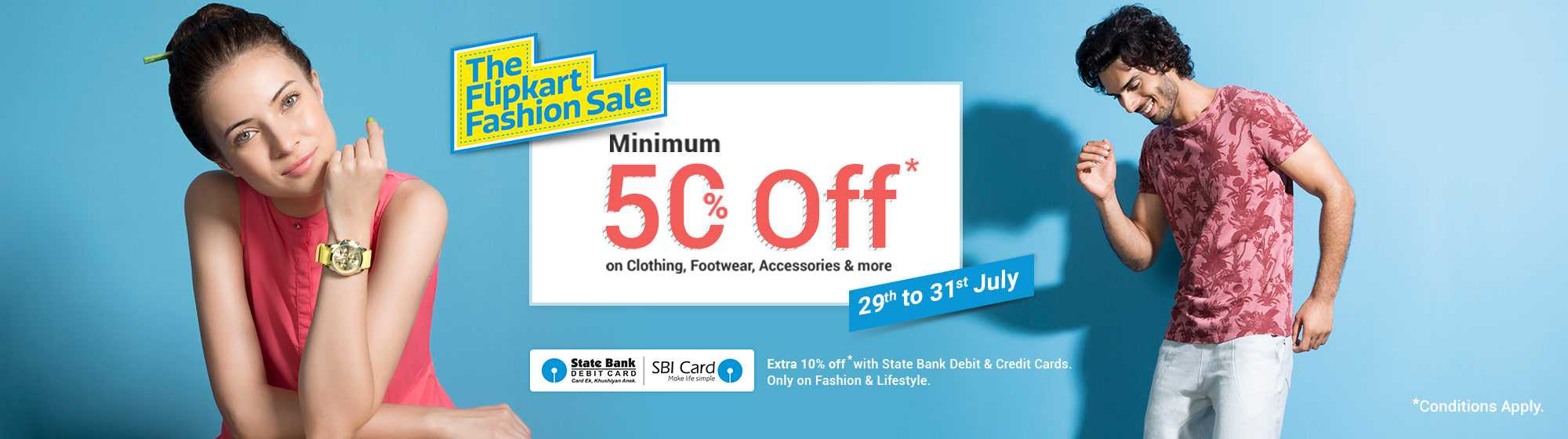 The Biggest Fashion Sale is Here Upto 70% Off + Extra 10% Discount SBI User