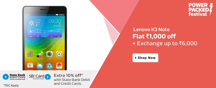 Flat Rs.1000 OFF on Lenovo K3 Note Mobile From Flipkart.com