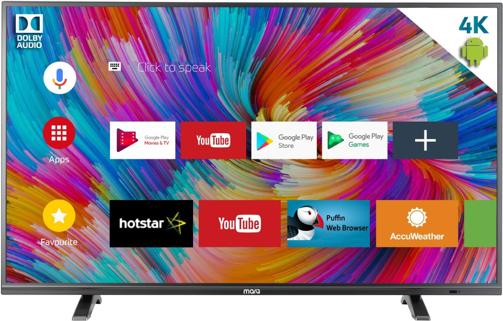 MarQ by Flipkart Dolby Certified Android 49 inch 124 cm Ultra HD 4K Smart  LED TV