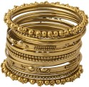Get best deal for NIA for Voylla Alloy Yellow Gold Bangle Set at Compare Hatke