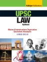 UPSC Law Optional Mains Examination Topicwise Question Analysis 1992 2014 4th  Edition 9789351720782 available at Flipkart for Rs.149