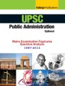 UPSC Public Administration Optional Mains Examination Topicwise Question Analysis 1987 2014 4th  Edition 9789351720805 available at Flipkart for Rs.149