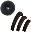 Style Tweak Combo of Hair Puff Bumpits (Set of 3) and Hair Donut Ring Bun Maker Hair Accessory Set available at Flipkart for Rs.205