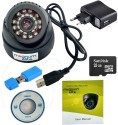 magnum elite 24 IR Night Vision Dome CCTV Camera  USB  Inbuilt DVR With Memory Card Slot Recording  32 GB SANDISK Memory Card included  0 Channel Home available at Flipkart for Rs.1955