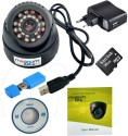 magnum elite 24 IR Night Vision Dome CCTV Camera  USB  Inbuilt DVR With Memory Card Slot Recording  16 GB SANDISK Memory Card included  0 Channel Home available at Flipkart for Rs.1725