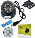 magnum elite 24 IR Night Vision Dome CCTV Camera  USB  Inbuilt DVR With Memory Card Slot Recording 0 Channel Home Security Camera available at Flipkart for Rs.1300