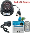 magnum elite 24 IR Night Vision Dome CCTV Camera  BNC  Inbuilt DVR With Memory Card Slot Recording   Pack of 2 0 Channel Home Security Camera available at Flipkart for Rs.3180
