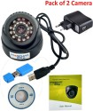 magnum elite 24 IR Night Vision Dome CCTV Camera  USB  Inbuilt DVR With Memory Card Slot Recording   Pack of 2 0 Channel Home Security Camera available at Flipkart for Rs.2450