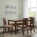 HomeTown Artois Solid Wood 6 Seater Dining Set Finish Color   Dark Walnut  HomeTown Dining Sets