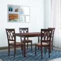 @home by Nilkamal PEAK Solid Wood 4 Seater Dining Set Finish Color   Cappuccino  @home by Nilkamal Dining Sets