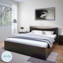 Flipkart Perfect Homes Carol Queen Bed Finish Color   Wenge  Flipkart Perfect Homes Beds