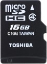 Toshiba 16  GB MicroSD Card Class 4 15 MB/s  Memory Card available at Flipkart for Rs.374