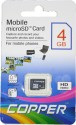 Copper 4  GB MicroSD Card Class 4  Memory Card available at Flipkart for Rs.279