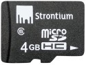 Strontium 4  GB MicroSD Card Class 6 24 MB/s  Memory Card available at Flipkart for Rs.359