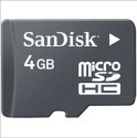 SanDisk card 4  GB MicroSDHC Class 4 30 MB/s  Memory Card available at Flipkart for Rs.235