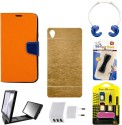 Mify Mify Branded Back   Flip Cover For Xiaomi Mi 4 Accessory Combo available at Flipkart for Rs.899
