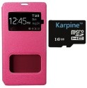 Karpine Xiaomi Redmi 2 Prime Flip Case & 16   GB MicroSD Accessory Combo available at Flipkart for Rs.848