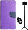 APE APE Mercury Goospery Diary Cover and Bluetooth Tripod for Samsung Galaxy Star Pro 7262 Accessory Combo available at Flipkart for Rs.1247