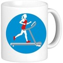 Muggies Magic Treadmill Woman Ceramic Mug available at Flipkart for Rs.449