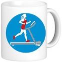 Muggies Magic Treadmill Woman Ceramic Mug available at Flipkart for Rs.419