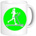 Muggies Magic Treadmill Woman art Ceramic Mug available at Flipkart for Rs.449