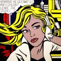 Ocher Art 30x30 INCHES, Roy Lichtenstein  M Maybe Canvas Painting 30 inch x 30 inch  available at Flipkart for Rs.8200
