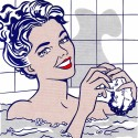 Ocher Art 30x30 INCHES, Roy Lichtenstein  Woman in a Bath Canvas Painting available at Flipkart for Rs.8200