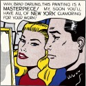Ocher Art 30x30 INCHES, Roy Lichtenstein  Masterpiece Canvas Painting available at Flipkart for Rs.8200