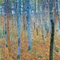 Ocher Art 30x30 INCHES, Gustav Klimt   Beech Grove Canvas Painting 30 inch x 30 inch  available at Flipkart for Rs.8000