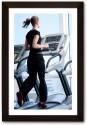 Framed Girl on Treadmill Paper Print available at Flipkart for Rs.745