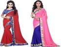 Aai Shree Khodiyar Art Floral Print Bollywood Chiffon Sari available at Flipkart for Rs.1075