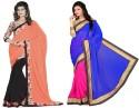 Aai Shree Khodiyar Art Floral Print Bollywood Georgette Sari available at Flipkart for Rs.1075