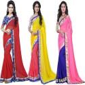 Aai Shree Khodiyar Art Floral Print Bollywood Georgette Sari available at Flipkart for Rs.1550
