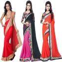 Aai Shree Khodiyar Art Floral Print Bollywood Georgette Sari available at Flipkart for Rs.1510