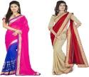 Aai Shree Khodiyar Art Floral Print Bollywood Georgette Sari available at Flipkart for Rs.1375