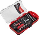 Compare Bosch - Skil 30 Piece (Red and Black) Ratchet Screwdriver Set at Compare Hatke