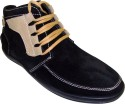 Get best deal for JK Port Black Leather Casual Shoe Casuals at Compare Hatke