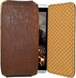 Totta Pouch for Celkon A119Q Signature HD (Brown)