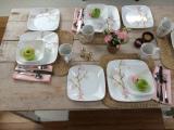 Corelle Cherry Blossom Pack of 21 Dinner Set (Glass)