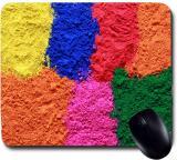 Awwsme Lots Of Colorful Gulal Mousepad (Colorful)