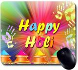 Awwsme Happy Holi Gulal Mousepad (Colorful)