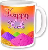 A Plus happy holi with gulal 01.jpg Ceramic Mug (250 ml)