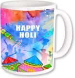 A Plus happy holi with gulal.jpg Ceramic Mug (250 ml)