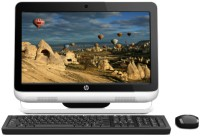 HP Omni 120-2020IN / Intel 2nd Gen G620 Dual Core/ 2 GB / 1 TB / Win 7 Home Basic (White & Black)
