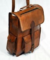 Udaipur Art Gallery Mens-Leather-Vintage-Backpack-Shoulder- 12 L Backpack