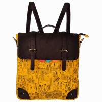 Funk For Hire Mela Haversack /Sling 5 L Backpack YELLOW 1
