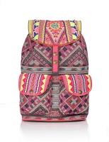 Shaun Design Pink Jacquard Embroidered 8 L Medium Backpack