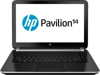 HP Pavilion 14-e006TU Laptop 3rd Gen Ci5/ 4GB/ 500GB/ Win8 Mineral Black Colour With Vertical Brush Pattern
