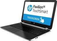 HP Pavilion TouchSmart 15-N015TX Laptop 3rd Gen Ci3/ 4GB/ 500GB/ Win8/ 1GB Graph/ Touch Imprint Mineral Black With Horizontal Brush Pattern